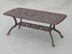 Patio Furniture Extra Large Coffee Table Cast Aluminum Series 60