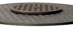 Patio Accessories Cast Aluminum Lazy Susan Basketweave