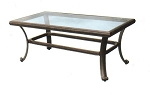 Patio Furniture Table Coffee Cast Aluminum Glass Top Series 50