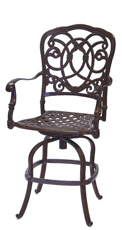 Patio Furniture Pub Stool Cast Aluminum Swivel Counter