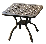 Patio Furniture Table Side Cast Aluminum Series 30