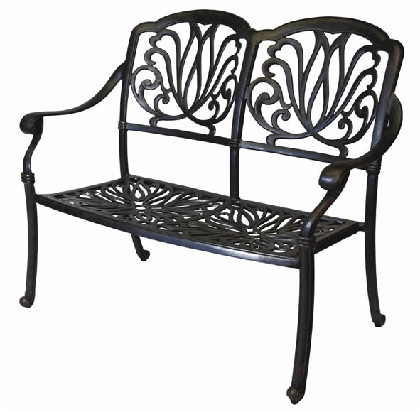 Patio Furniture Bench Cast Aluminum Loveseat Lisse