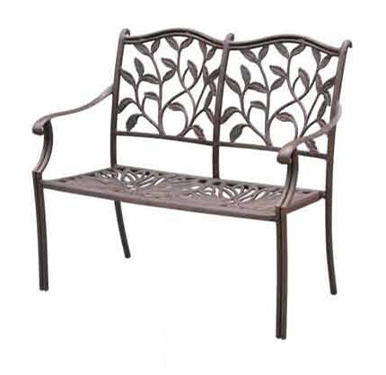 Patio Furniture Bench Cast Aluminum Loveseat Ivyland