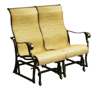 Patio Furniture Cast Aluminum Sling Glider Bench Summit