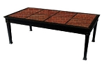 Patio Furniture Cast Aluminum Table Set Occasional Granite Top 2pc African Red