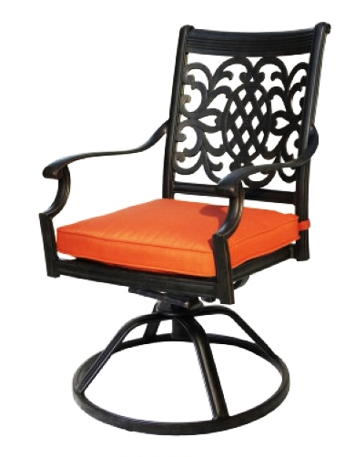 Patio Furniture Rocker Swivel Cast Aluminum Arm Chair Oxford