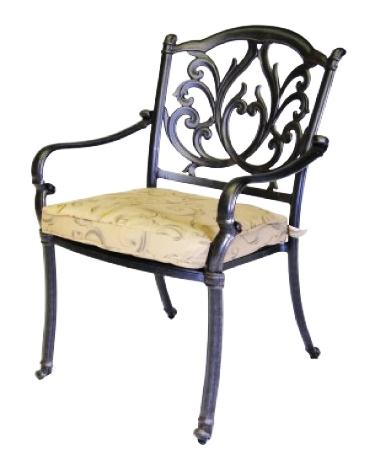 Patio Furniture Chair Dining Cast Aluminum Arm Phoenix