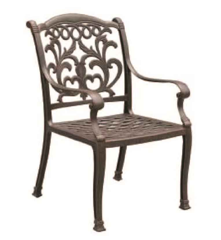 Patio Furniture Chair Dining Cast Aluminum Arm Valencia