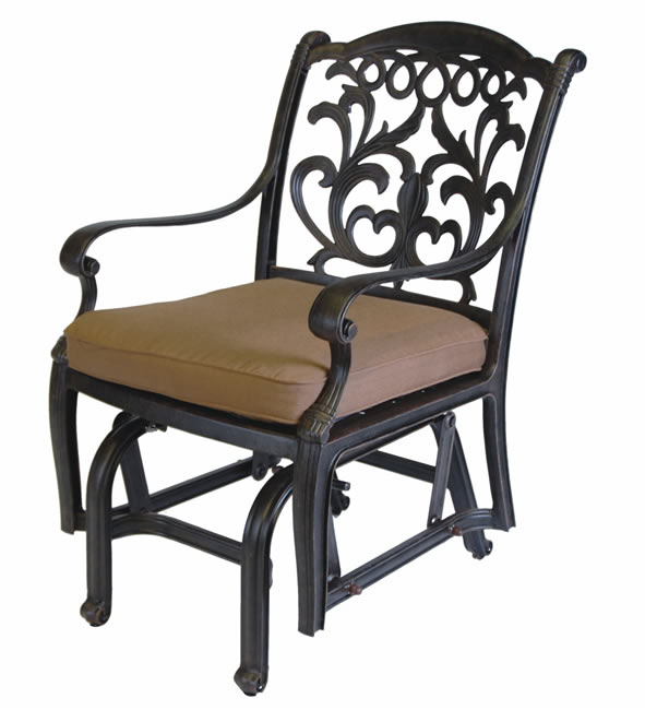 Patio Furniture Glider Cast Aluminum Chair Valencia