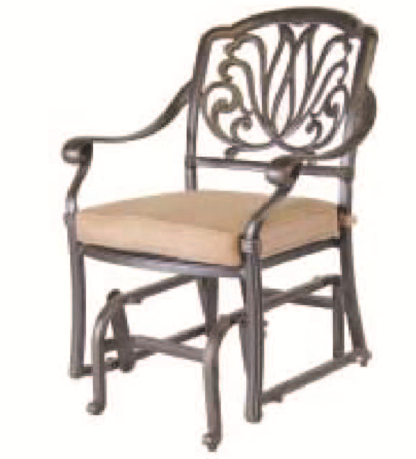 Patio Furniture Glider Cast Aluminum Chair Lisse