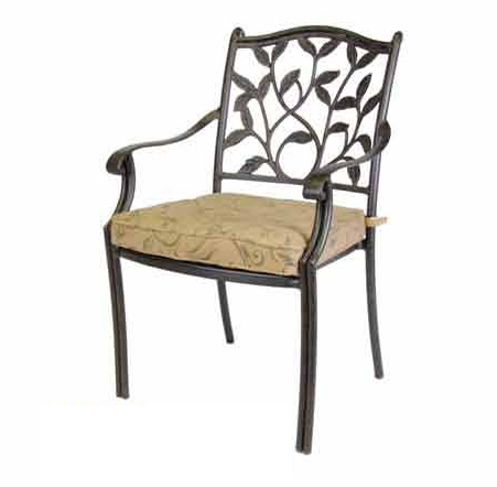 Patio Furniture Chair Dining Cast Aluminum Arm Ivyland