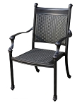 Patio Furniture Aluminum/Wicker Chair Dining Arm Hudson