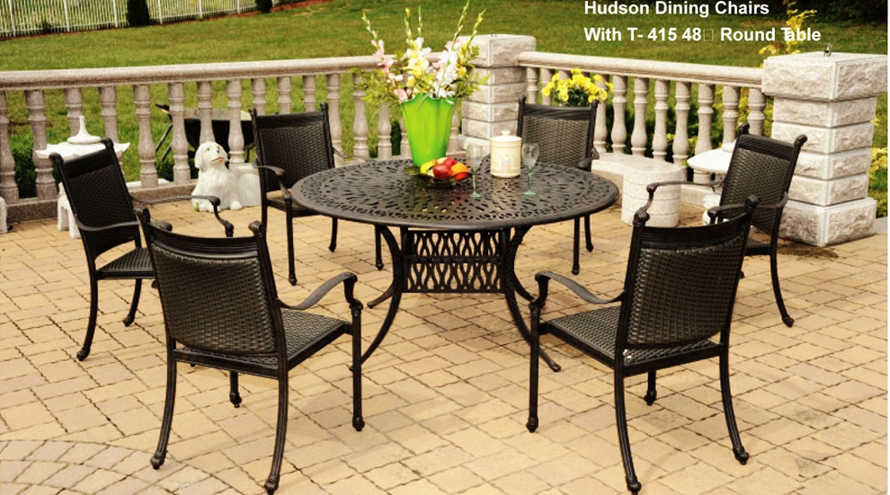 Patio Furniture Aluminum Wicker Dining Set 7pc Hudson