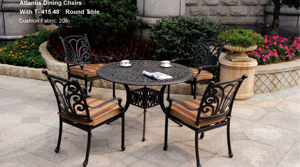 Patio Furniture Dining Set Cast Aluminum 5pc Atlantis