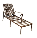 Patio Furniture Chaise Lounge Cast Aluminum Exeter