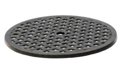 Patio Accessories Cast Aluminum Lazy Susan Basketweave