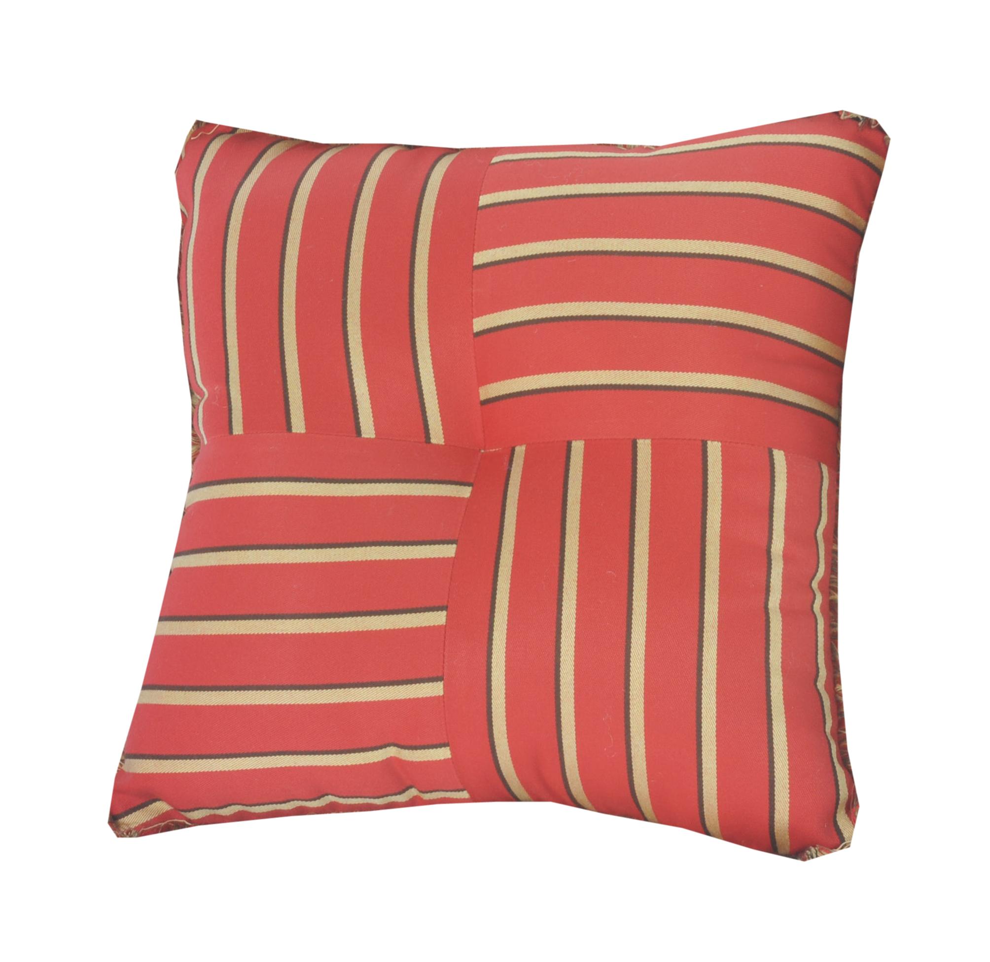 Custom Sunbrella Throw Pillows : Quilted Throw Pillow Indoor/Outdoor 16