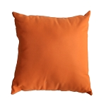 "Throw Pillow Indoor/Outdoor 17"" Square Sunbrella Solid Color"