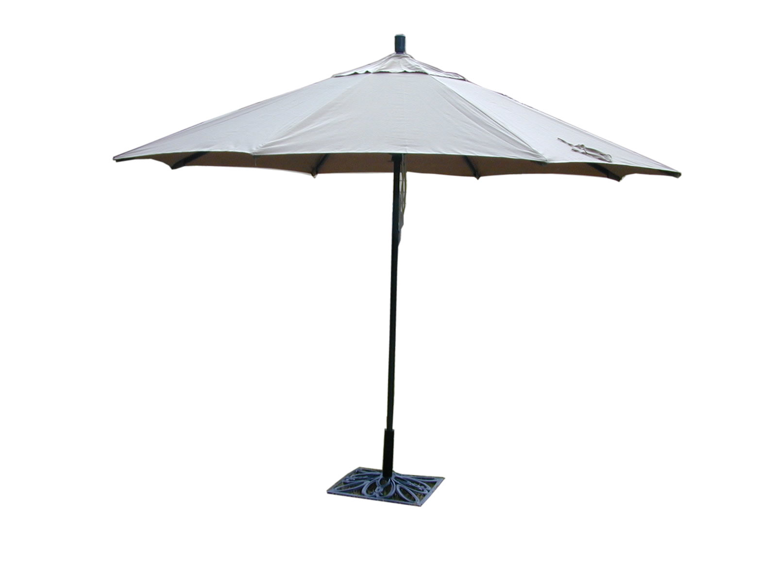 Market Umbrella Aluminum 11 Ft Sunbrella Heather Beige