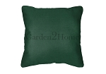 Throw Pillow in Sunbrella Canvas Forest Green 5446