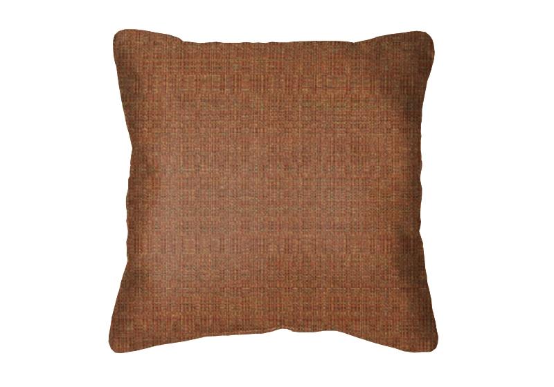Throw Pillow in Sunbrella Linen Chili 8306