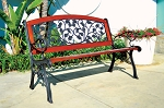 Patio Furniture Bench Traditional Cast Iron English Ivy