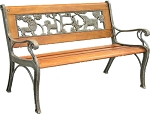 Patio Furniture Bench Traditional Kiddie Cast Iron Safari