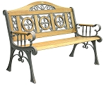 Patio Furniture Bench Traditional Cast Iron Regency