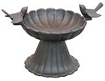 Birdbath Tabletop Cast Iron Twin Birds