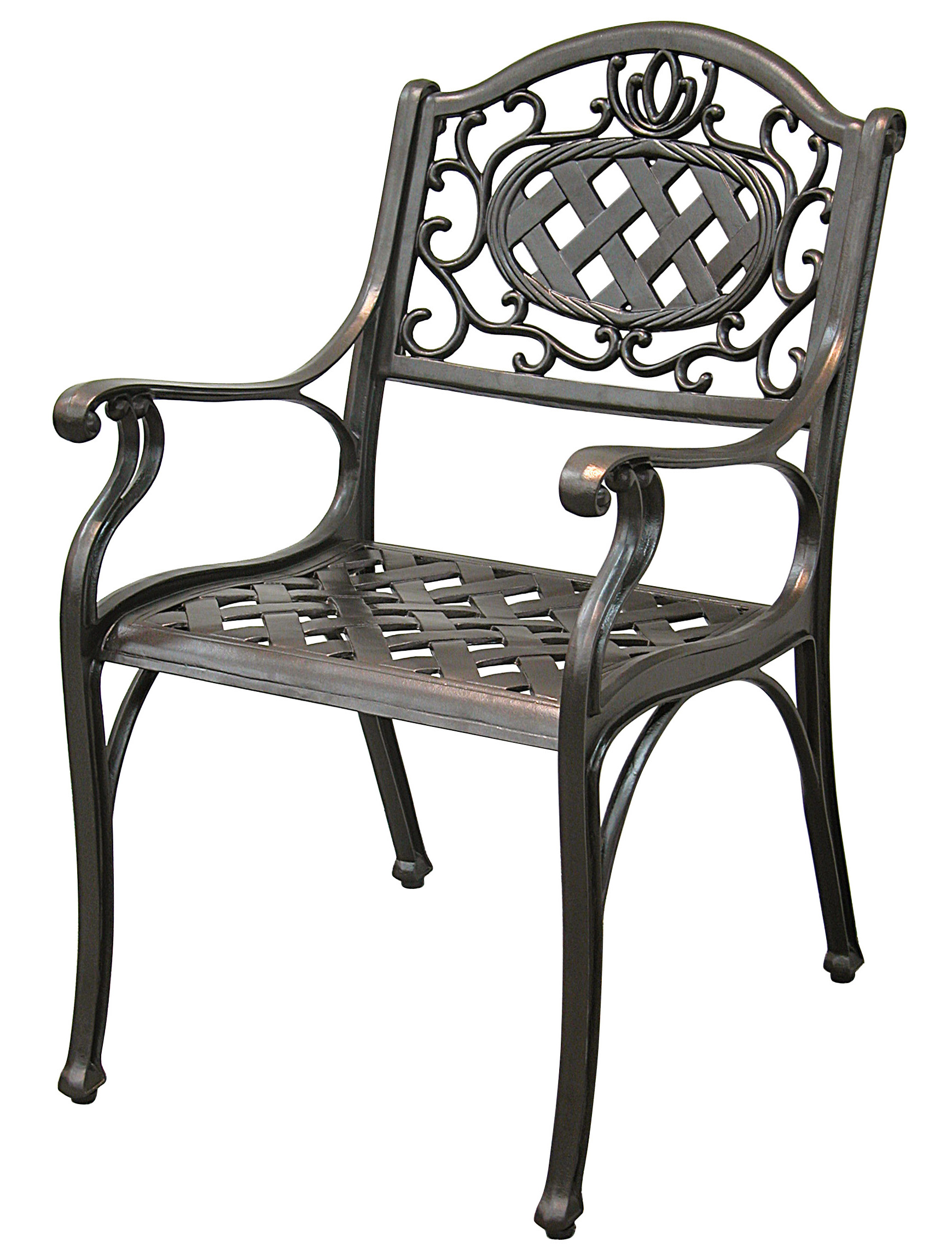 Patio Furniture Chair Dining Arm Cast Aluminum Cambridge