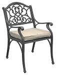 Patio Furniture Chair Dining Arm Cast Aluminum Legacy