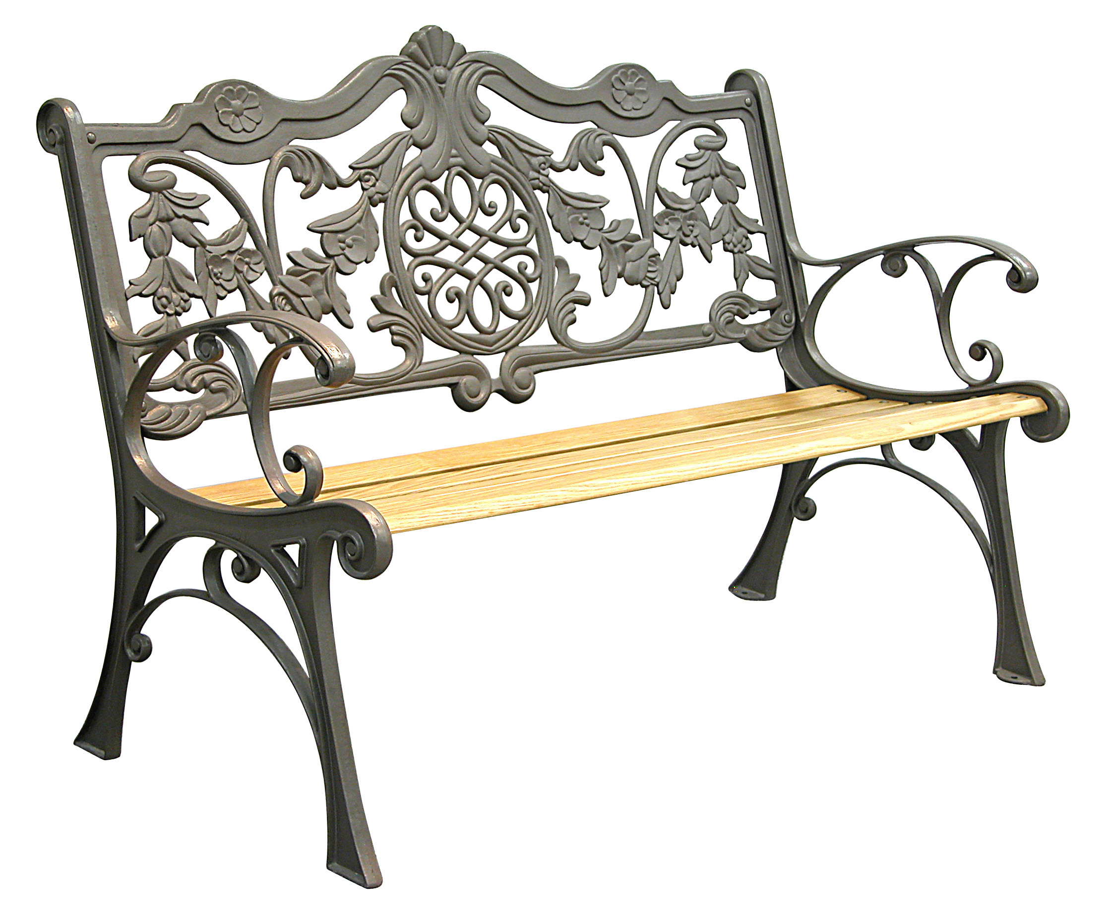 Patio Furniture Bench Traditional Cast Iron Regal