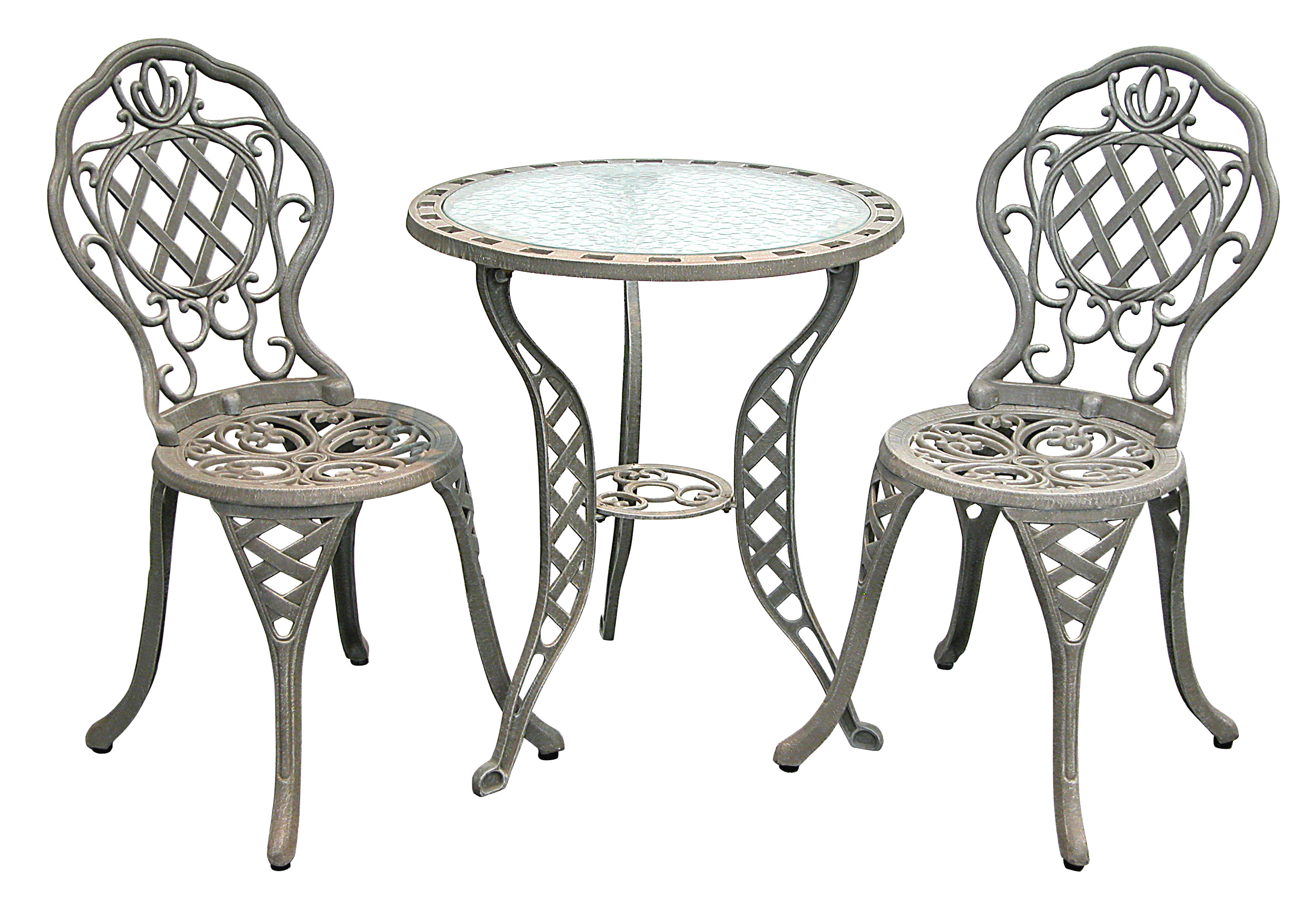 Patio Furniture Bistro Set Cast Aluminum Iron Regis