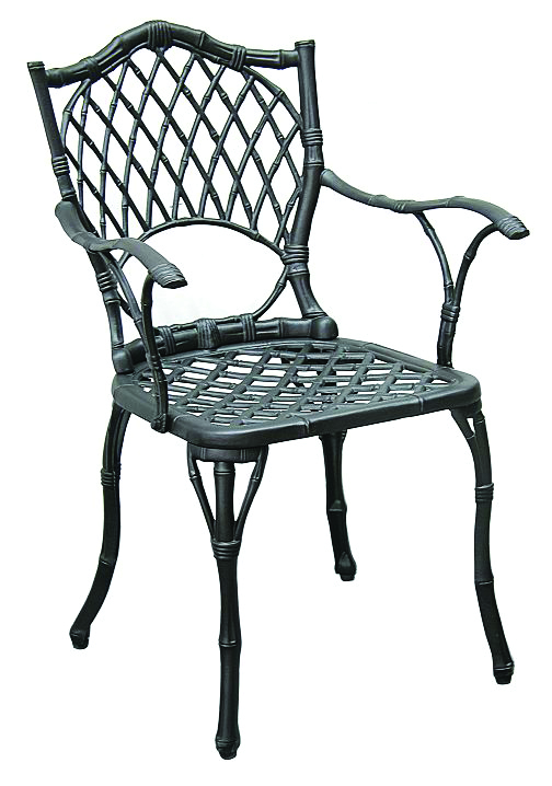 patio furniture chairs cast aluminum iron arm set 2