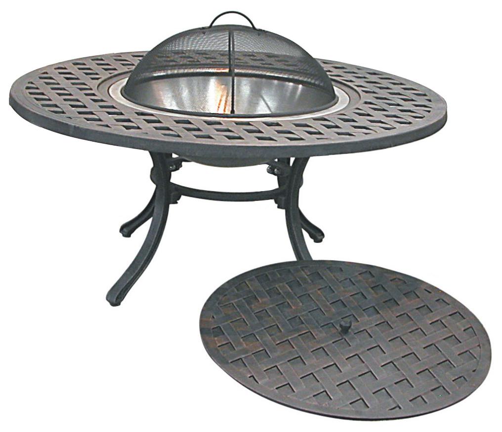 Patio Furniture Firepit Cast Aluminum Iron 40 Delux