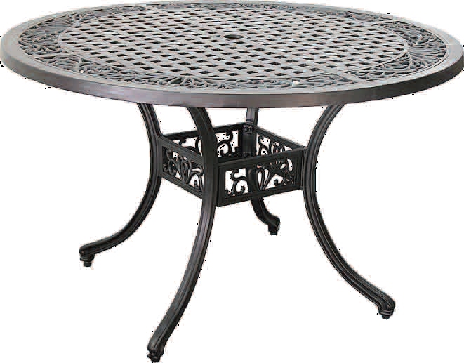 patio furniture table dining cast aluminum 48 round