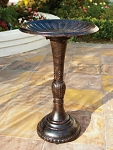 Birdbath Cast Aluminum & Iron Fluted