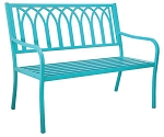 Patio Furniture Bench Steel Lakeside Soho Blue