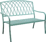 Patio Furniture Bench Steel Lancaster Patina