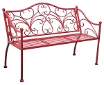 Patio Furniture Bench Steel Victoria Red