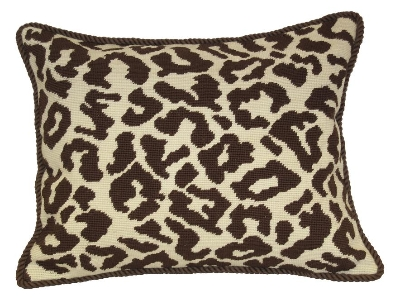 Animal Print Needlepoint Pillows : Needlepoint Pillow - Leopard (20