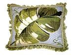 Needlepoint Pillow - Green Leaf (20