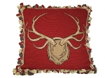 Needlepoint Pillow -  Antler (22