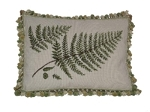 Needlepoint Pillow - Fern Leaves (20