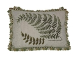 Needlepoint Pillow - Fern Leaf (20