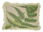 Needlepoint Pillow - Green Fern (18