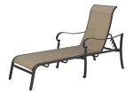 Patio Furniture Cast Aluminum/Sling Chaise Lounge (Extra Long) Mountain View