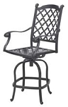 Patio Furniture Pub Stool Cast Aluminum Swivel Counter Height Madsion