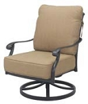 Patio Furniture Deep Seating Rocker Club Cast Aluminum Swivel Chair Madsion