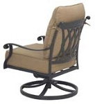 Patio Furniture Deep Seating Rocker Club Cast Aluminum Swivel Chair Capri
